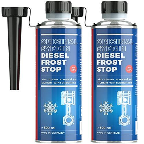 SYPRIN Diesel Frost Stop Additiv Zusatz für Winter – Dieselzusatz Kraftstoffadditiv Fließverbesserer – Frostschutz und Winterschutz für den Winterbetrieb 6X 300ml