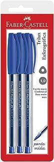 Esferográfica Trilux 032 Médium, Faber-Castell, SM/032AZ, Azul