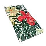 Opiadco Toallas de Mano con Estampado de Plantas Hawaianas Toalla de Microfibra para el Rostro Toalla súper Suave Altamente Absorbente para PIS