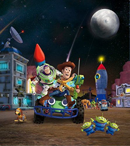 1art1 Toy Story - Woody, Buzz Lightyear Und Freunde, Rakete Fototapete Poster-Tapete 202 x 180 cm
