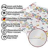 ANRO Wachstuch Tischdecke abwaschbar Wachstuchtischdecke Wachstischdecke Schmetterlinge Silber Bunt 200x140cm - 8
