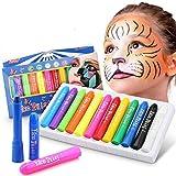 DY_Jin Pintura Facial,Buluri 12 Colores Face Paint Crayons Conjuntos de Pintura Corporal Faciales Seguros y no Tóxicos(12colors)