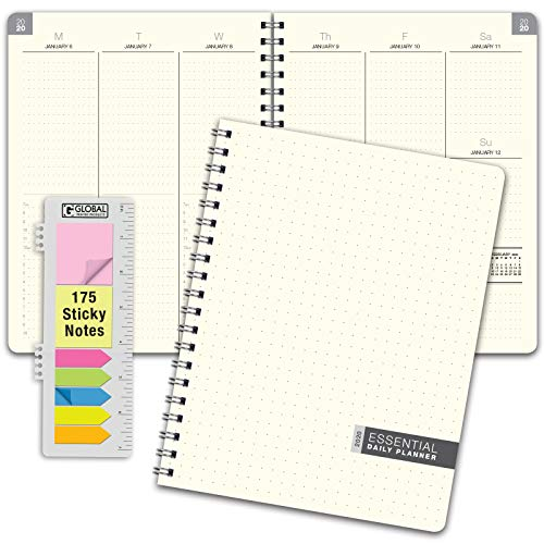 Essential 8.5x11 Monthly & Weekly 2020 Planner - (November 2019 Through December 2020)