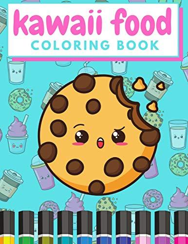Kawaii Food Coloring Book: Doodle Colouring Books Cute...