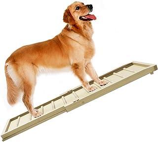 ペットスロープ ペットステップ 木製 スライド式 伸縮自由 ケガ ヘルニア予防 ソファ/ベッド/玄関/ドライブ/庭に適用 TOPOOMY (新規ペットスロープ)