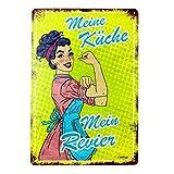 Stilingo Retro-Blechschild Küche Vintage Magnet-Metallschild Werbeschild 20x30 cm Türschild Küche...