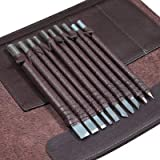 Wood Chisels Knife Set Tungsten Steel Wood Carving Tool Kit 10pcs Sharp Knives Bonus a Extra Portable Compact Leather Roll Storage Bag HKD05-US