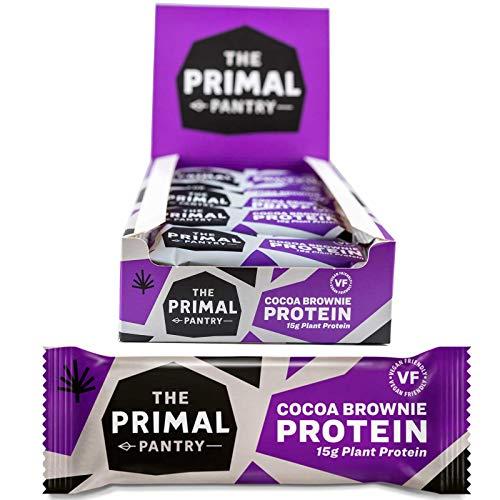 The Primal Pantry High Protein Bar - mit 15g Hanfprotein je Energie-Riegel (Schoko Brownie 15er Karton)