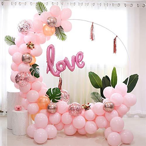 Jnyyjc Balloon 1pc 58/78cm Balloon Round Garland Stand Holder Wreath Hoop Balloon Ring Arch Wedding Birthday Party Baby Shower Decoration (Color : 78cm)
