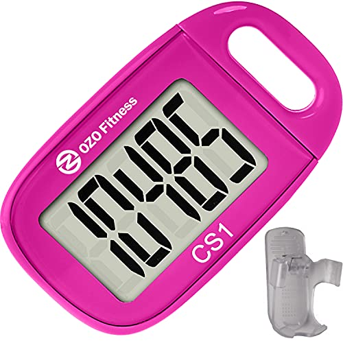 OZO Fitness CS1 Easy Pedometer for Walking | Step Counter Clip on |...