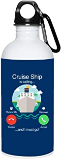 TeeWish Cuise Ship is Calling and I Must Go Ceramic Coffee Mug - Beer Stein -Water Bottle - Color Changing Mug, One Size, 20 oz. Stainless Water Bottle/Royal
