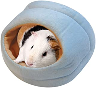 Longay Lovely Warm Small Animal Bed Mat Hamster Chinchilla Rabbit Nest Pet Supplies New (S, Blue)