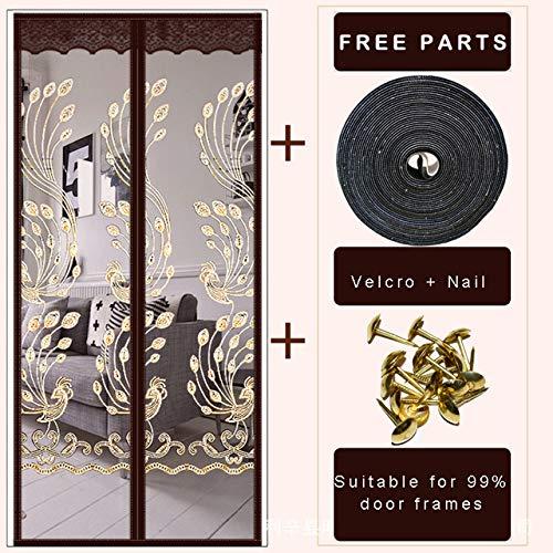 GGCL Magnetischen Bildschirm Tür Vorhang Net Anti Insekt Mesh Fly Bildschirm Moskito Schutz Net Magnet Vorhänge für Türen Fenster,210 * 100cm