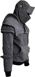 FSSE Men Costume Jacket Coat Medieval Knight Armor Pullover Hoodies Sweatshirt