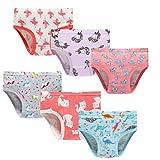 Little Girls'Soft Cotton Underwear Unicorn Mermaid Comfort Panties Toddler Briefs 7/8yrs Pink