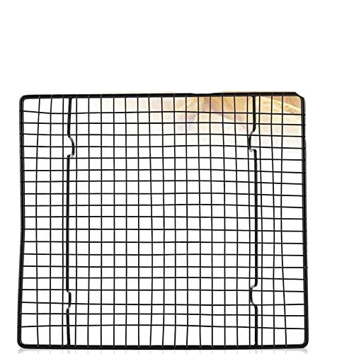 Rejilla de refrigeración Acero antiadherente pastel de enfriamiento neta para hornear bandeja de bandeja de rack de rack de rack utensilios de red 26cmx23cmx3cm para hornear barbacoa refrigerante Acce