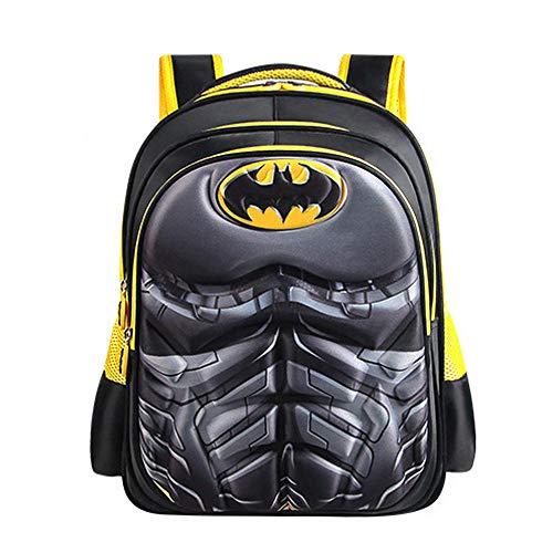 Kid Backpack Boys Batman 3D Backpack with Foldable Cape Kids Novelty Dress Up Rucksack Bag Camping Hiking
