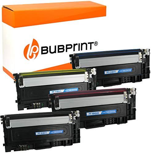 4 Bubprint Toner kompatibel für Samsung CLT-P404C für Xpress C430 C430W C480 C480FN C480FW C480W SL-C430 SL-C430W SL-C480 SL-C480FN SL-C480FW SL-C480W Multipack