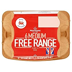 Morrisons Free Range 6 Medium Eggs