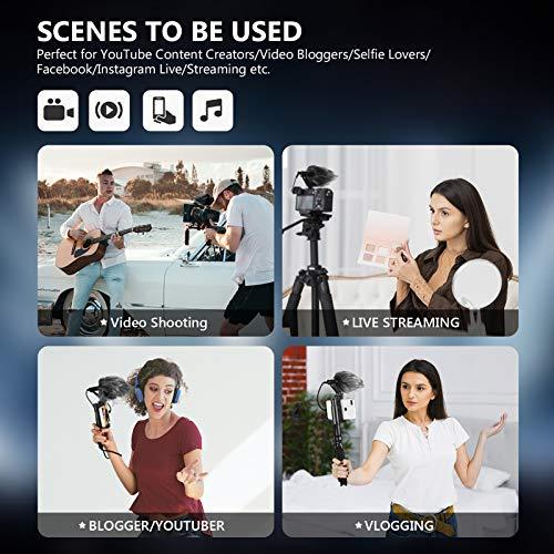 Neewer Smartphone Rig Filmemacher Stativhalterung mit Handyklammer und Videomikrofon für Vlogging YouTube Videos Live Streaming Filmemachen usw. Kompatibel mit iPhone Android Smartphones