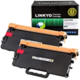 LINKYO Compatible Toner Cartridge Replacement for Brother TN850 TN-850 TN820 (Black, High Yield, 2-Pack)