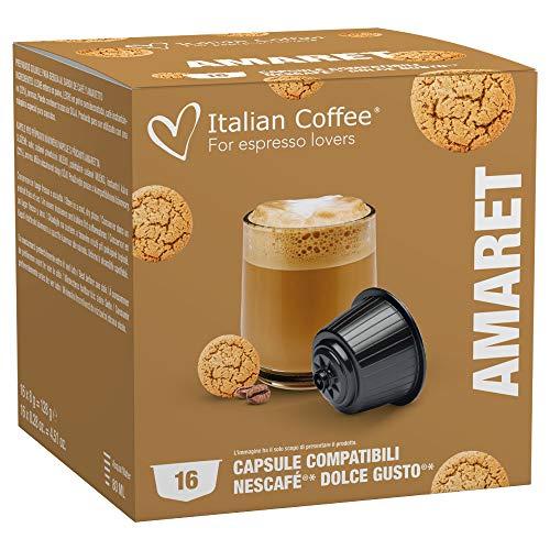 64 CAPSULE COMPATIBILI NESCAFE' DOLCE GUSTO ITALIAN COFFEE...