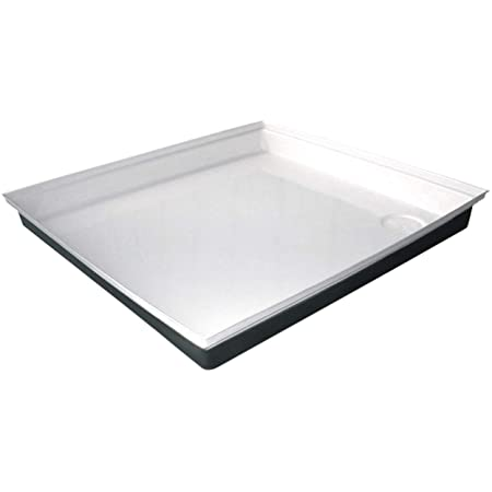 White 7 cm Shower tray 100x80 Mineral Cast-Mineral Cast Basin 80x100 x1