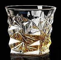 Syanka Crystal Diamond Whiskey Glasses Set of 6, Clear, 310 ml, Whisky Glass