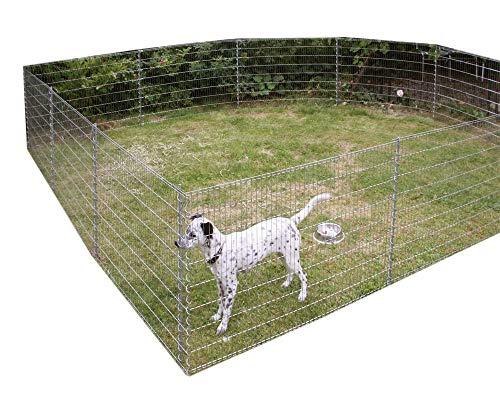 Kleintiergehege Metall Zaun Set verzinkt Höhe 80 cm Gesamtlänge 7,10 m