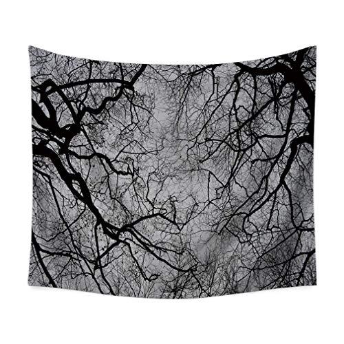 Tapiz de pie en blanco y negro con forma de palo para colgar, mantel de playa, toalla de fondo, decoración del hogar, 106 x 152 cm