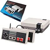 Classic Retro Game Console, AV Output 8-bit Video Game Built-in 620 Games with 2 Classic Controllers