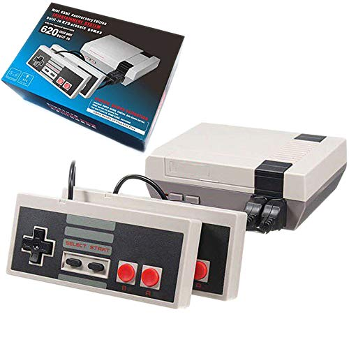 Classic Mini Retro Game Console, AV Output 8-bit Video Game Built-in 620 Games with 2 Classic Controllers