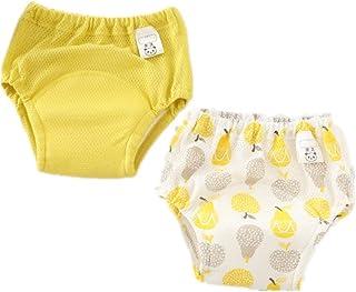 Morbuy-Shop, Pantalones de Entrenamiento para Bebé, Morbuy Reusable Calzones de Entrenamiento Verano Ropa Interior de Entrenamiento Bragas de Aprendizaje, 1-4 Edad, 2 Piezas