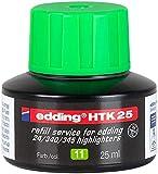 edding Nachfülltinte edding HTK 25, f.edding Highlighter, 25 ml, hellgrün