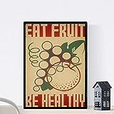 Nacnic Vintage Poster Poster Obst. Gesund ernähren. A3