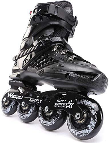 CAIFENG No Fear Mens Aggressive Skates Black Inline Roller Skates Senior, Comfortable Skates for...