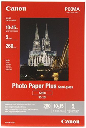 Canon SG-201 SEMI Glossy 5 A6 10 x 15 cm (A6) Carta fotografica, 5 Pezzi