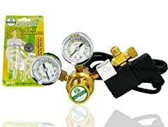 COOL-TOUCH, industrial electronic Solenoid design Dual Gauges paired with precision needle valve for fine tuning release of CO2 Durable brass construction for long-lasting durability and dependability Compatible with most CO2 atomizer and diffuser Co...