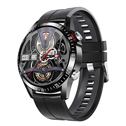 APCHY Reloj Inteligente Smartwatch GPS para Hombres,30 Llamadas Bluetooth,Seguidores De Actividades De Frecuencia Cardíaca,Presión Arterial, Pulsera Inteligente Deportiva, Medición De Temperatura,G
