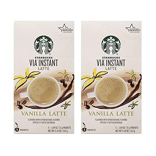 Starbucks VIA Instant Vanilla Latte, 10 CT (2 pack)