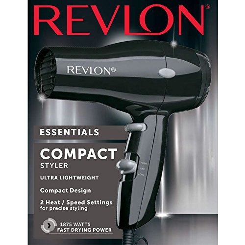 Revlon 1875W Compact & Lightweight Hair Dryer, Black