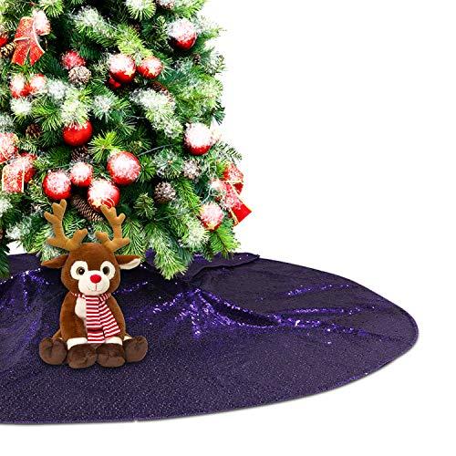 Eternal Beauty Weihnachtsbaum-Dekoration mit Pailletten, rund, 127 cm, Violett