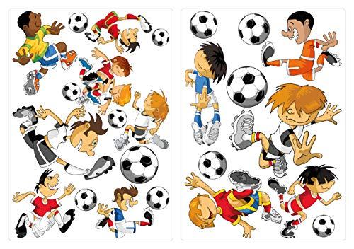 dekodino Adesivo murale calciatore in un set vivaismo decoro