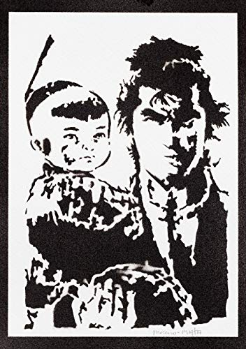 Lone Wolf and Cub Poster Plakat Handmade Graffiti Street Art - Artwork