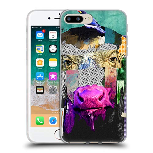 Head Case Designs Oficial Michel Keck Búfalo Collage Animal Carcasa de Gel de Silicona Compatible con Apple iPhone 7 Plus/iPhone 8 Plus