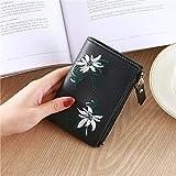 Cute Multi Card Lady Wallet Flower Pattern Folder Cute Girl Short Multifunción Monedero Tarjeta Lady Wallet