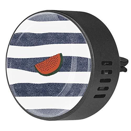 Shiiny Difusor de aceite esencial de aromaterapia con diseño de sandía en azul oscuro y blanco a rayas, para coche, oficina, hogar, baño, casa, 2 paquetes