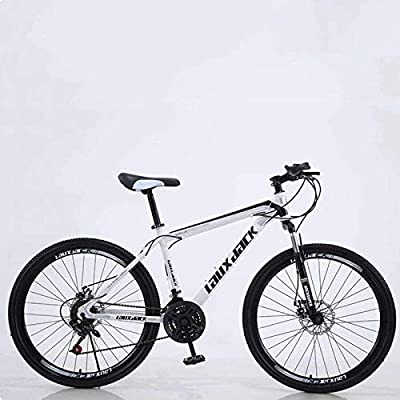 Gmlmes Mountain Bike 21 Speed Gears 26 Inch Men &Women Mountain Bike Outdoor Sports Road Bike Multiple Colors (Black-White)