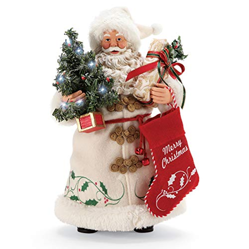 Department 56 Possible Dreams Santa A Christmas Tradition Lit Figurine, 10.5 Inch, Multicolor