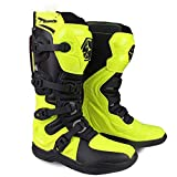Motocross Motorcycle Riding Shoes Racing Men's Downhill Boots Yellow 6.5